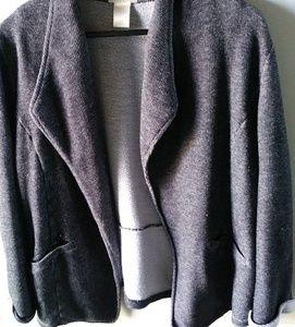 Gray Casual Blazer